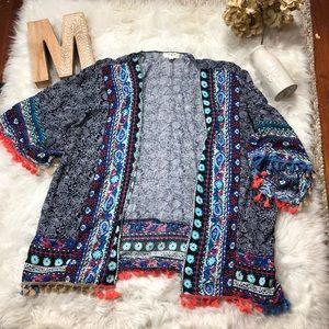 UMGEE Paisley Pom Pom Kimono